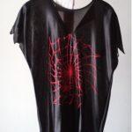 Kleid Karneval rote Spinne