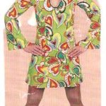 70er jahre kleid herzen