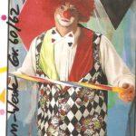 Clown Weste rot-gelb