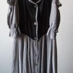 Trachtenkleid sw weiß 36