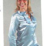 hippie bluse blau