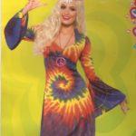 hippie kleid tie dye